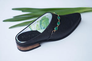 Emerald Clog made from  Piñatex®