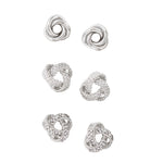 Knot Stud Earrings Set