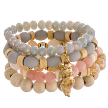 Sandy Seashell Stackable Bracelet Set