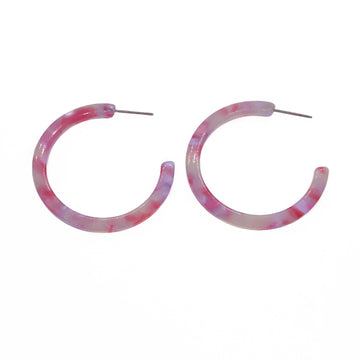 Fuchsia Hoop Earrings