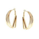 Fanned Metal Earrings | Earrings | Bentley & Lo