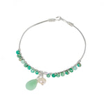Amazonite Wrap Sterling Silver Bangle Bracelet