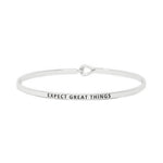 Expect Great Things Inspirational Bangle Bracelet