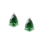 Emerald Teardrop Stud Earrings