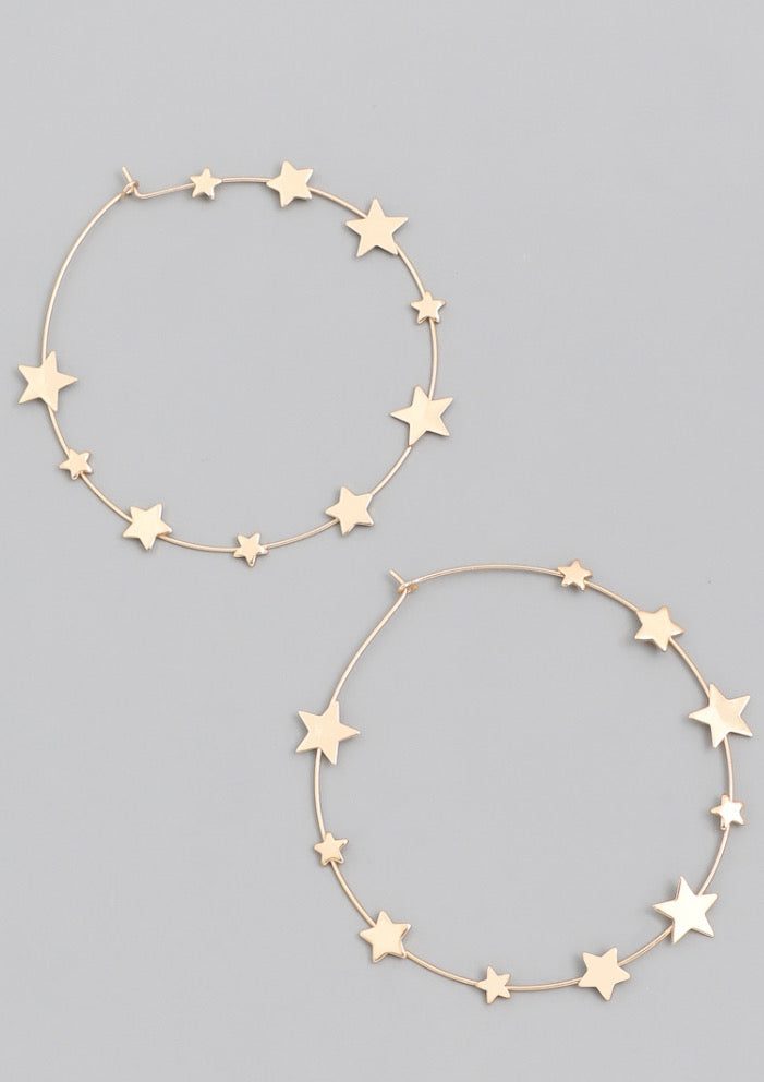 Dreamy Star  High Style Hoops
