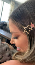 Load image into Gallery viewer, Sparkly Stars Hair Clip