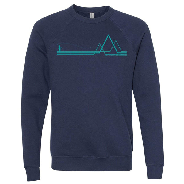 Fly Fish Wyoming Navy / S 3 Peaks Fisher Sweatshirt