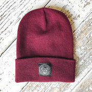 Fly Fish Wyoming Beanie Burgundy Fly Fish Wyoming® Knit Beanies