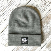 Fly Fish Wyoming Beanie Gray Wyo Bison Fly Knit Beanies
