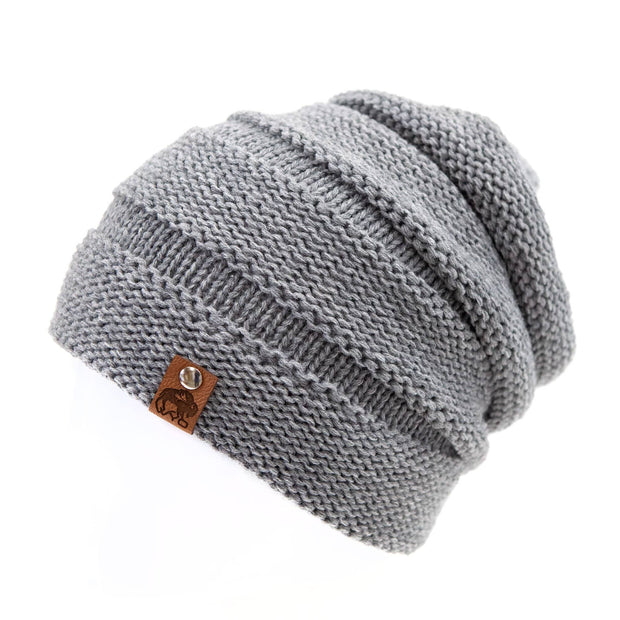 Fly Fish Wyoming Beanie Gray Wyo Fly Bison Slouch Beanies - 4 Colors!