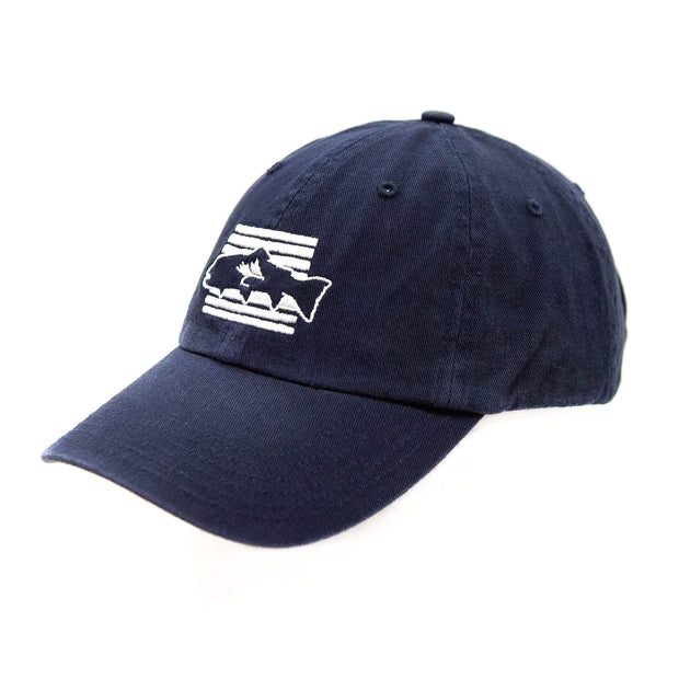 Fly Fish Wyoming Hat Navy Cool Dad Hat 2.0 - Navy