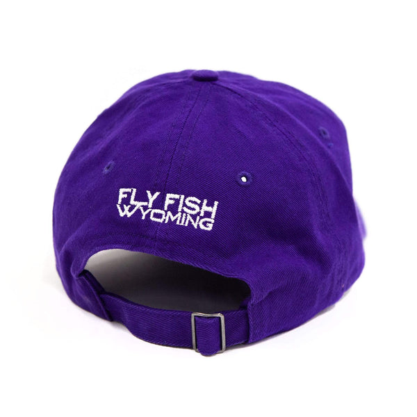 Fly Fish Wyoming Hat Purple Cool Dad (or Mom!) Hat 2.0 - Purple