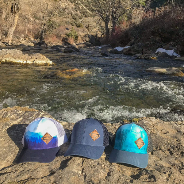 Fly Fish Wyoming Hat Diamond Patch Misty Mountain Hat