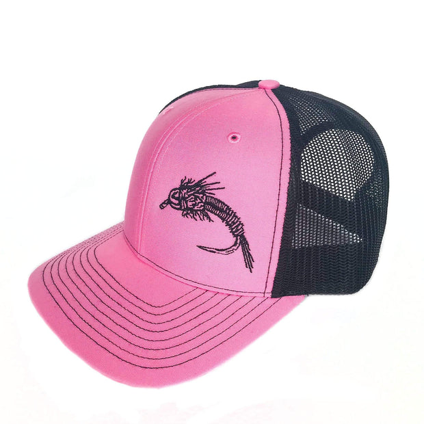 "Fly Fish Wyoming Hat ""So Fly"" Series 2 Hat - Pink/Black"