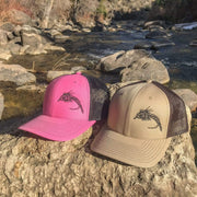 "Fly Fish Wyoming Hat ""So Fly"" Series 2 Hat - Tan/Brown"