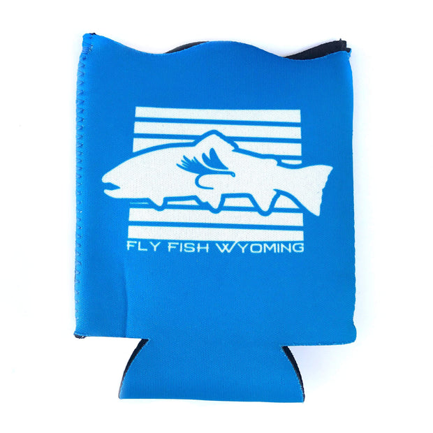Fly Fish Wyoming Hydration Wyoming State Fish Koozie - Blue