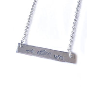 Fly Fish Wyoming Jewelry Silver Fly Fish Wyoming Necklace