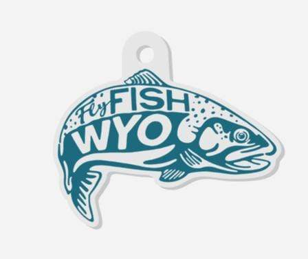 Fly Fish Wyoming Fish Jump Keychains