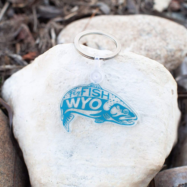 Fly Fish Wyoming Keychains