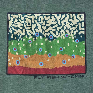 Fly Fish Wyoming Men's Brook Trout Pattern Tee