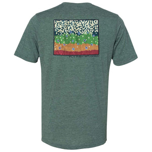 Fly Fish Wyoming Men's S / Pine Brook Trout Pattern Tee