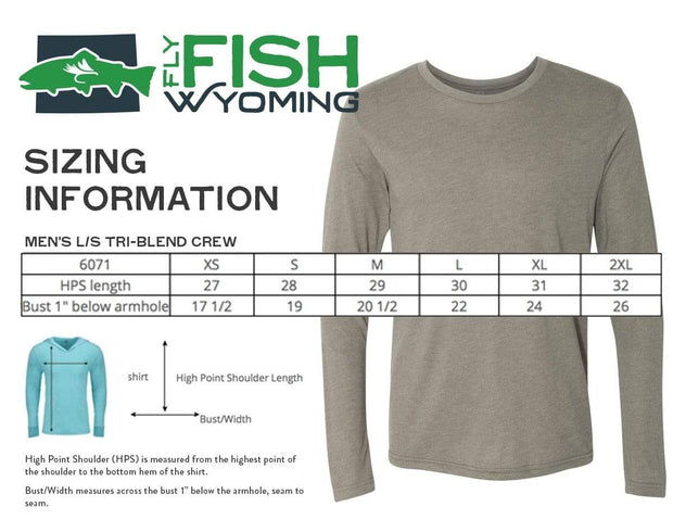 Fly Fish Wyoming Men's Fly Fish Wyoming® Spine Design Long Sleeve - Blue