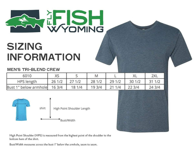 Fly Fish Wyoming Men's Wyo Fly Bison Logo Tee - Heather Grey