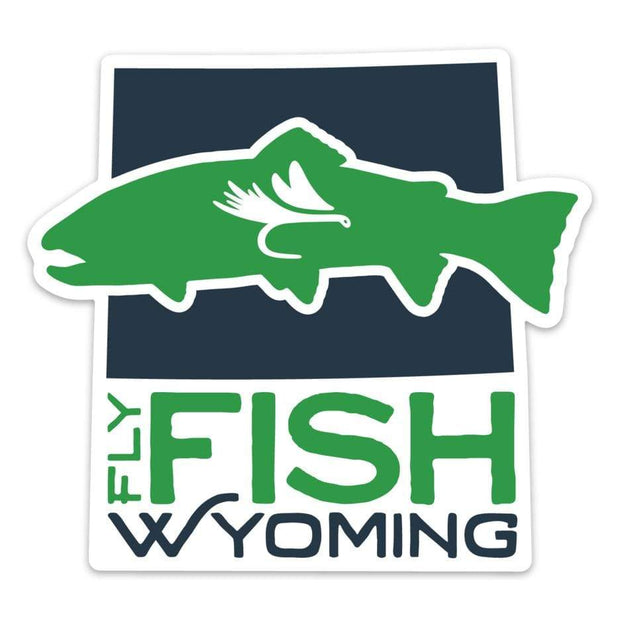 Fly Fish Wyoming Sticker Fly Fish Wyoming® Logo Sticker