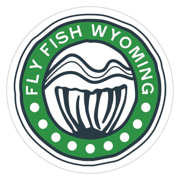Fly Fish Wyoming Sticker Reel Wyoming Sticker