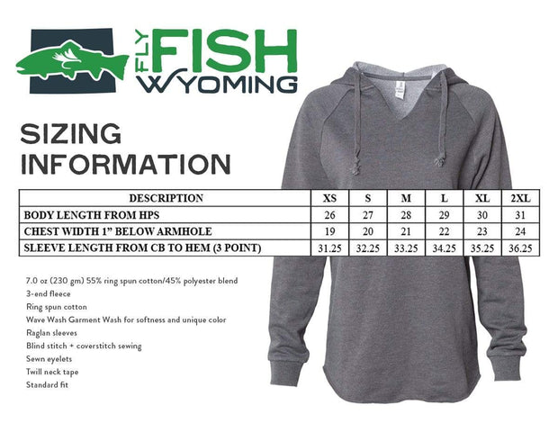 Fly Fish Wyoming Women's Women's Fish Rising Hooded Pullover