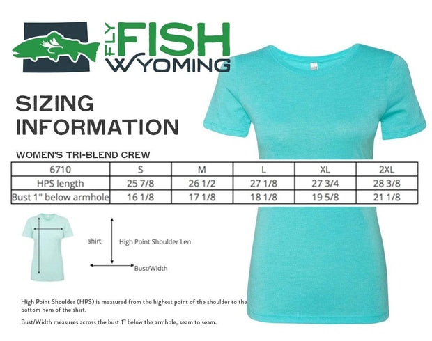 Fly Fish Wyoming Women's Women's Fish Wild Wyoming Tee