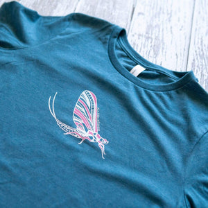 Fly Fish Wyoming Women's Women's Mayfly Tee