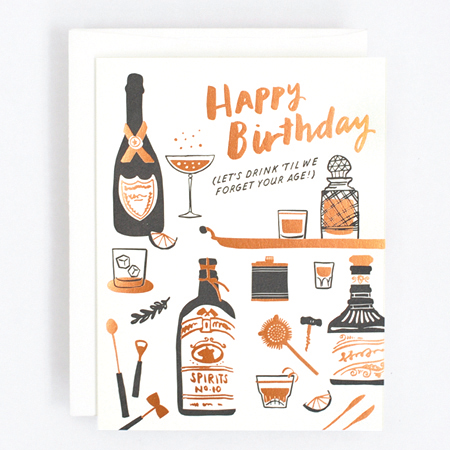 Happy Birthday Let's Drink Greeting Card