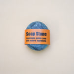Handmade Blue with Spiral Pattern Soap Stone