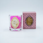 Small Votive Pink Rose Natural Wax Scented Candle with Moke Fragrance