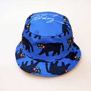 Panther with fire rose bucket hat. Really cool and stylish. Fit on both him and her.