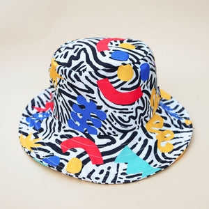 Multicolour Wide Bucket Hat