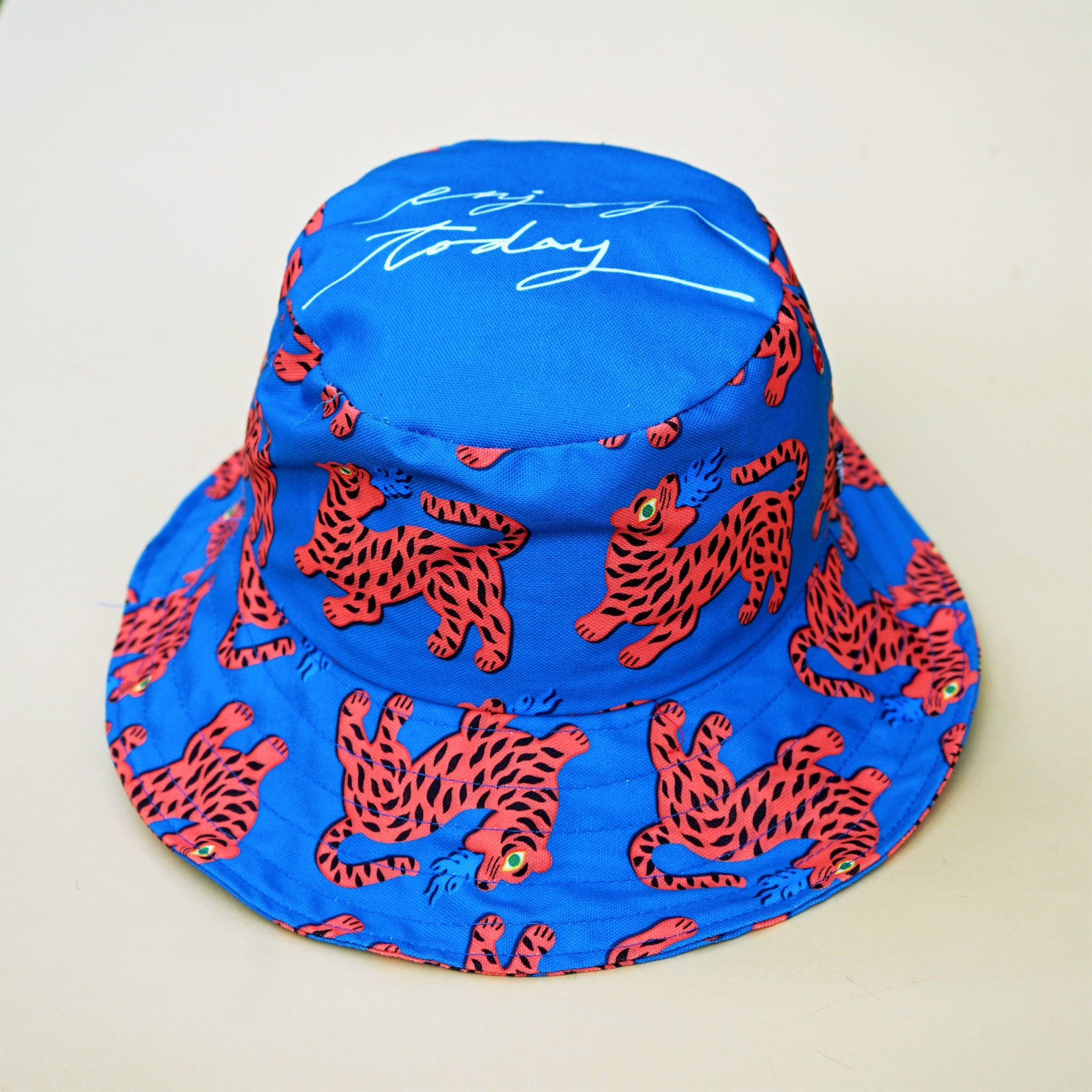 Red fire tiger bucket hat. Cool and stylish. Perfect for the beach, park and holiday.