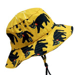 Fire Panther Yellow Wide Bucket Hat