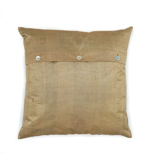 Gold Silk Cushion Covers
