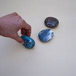 Set of 3 Handmade Pebble Soaps with Spiral Pattern