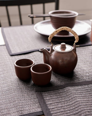 Handmade Chinese Teapot Set with 2 Cups