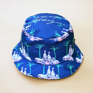 Greyhound bucket hat. Cool and stylish. Perfect for the beach, park and holiday.
