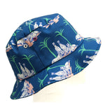 Greyhound and Palm Tree Bucket Hat