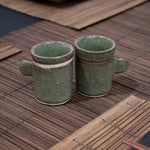Set of 2 Green Wasabi Tea Cups