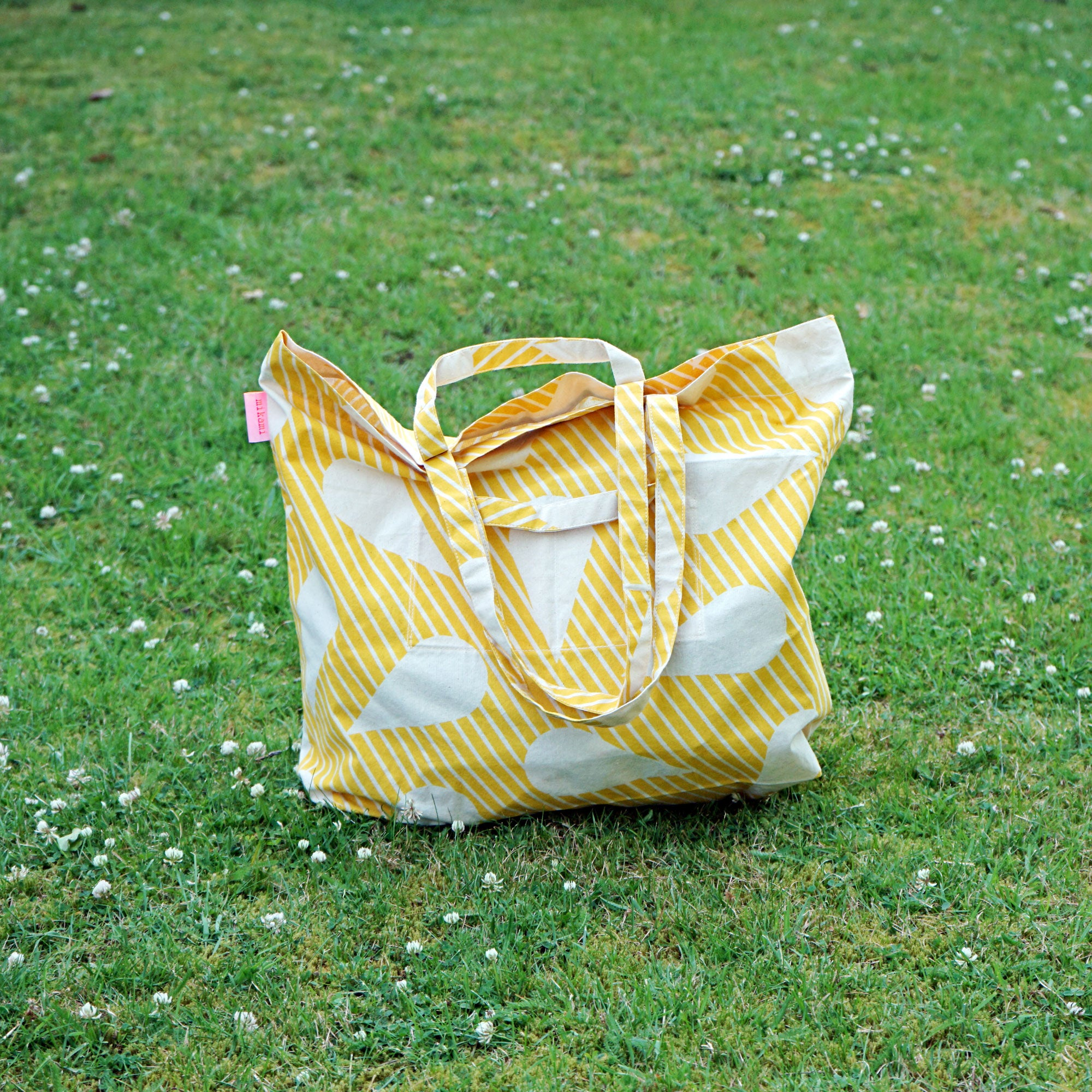 Yellow Water Drop Tote Bag. Perfect for sun-kissed seekers