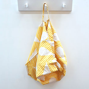 Yellow Waterdrop Tote Bag.Inspired by the geometric shapes and natural elements, this tote bag printed design  is so cool.