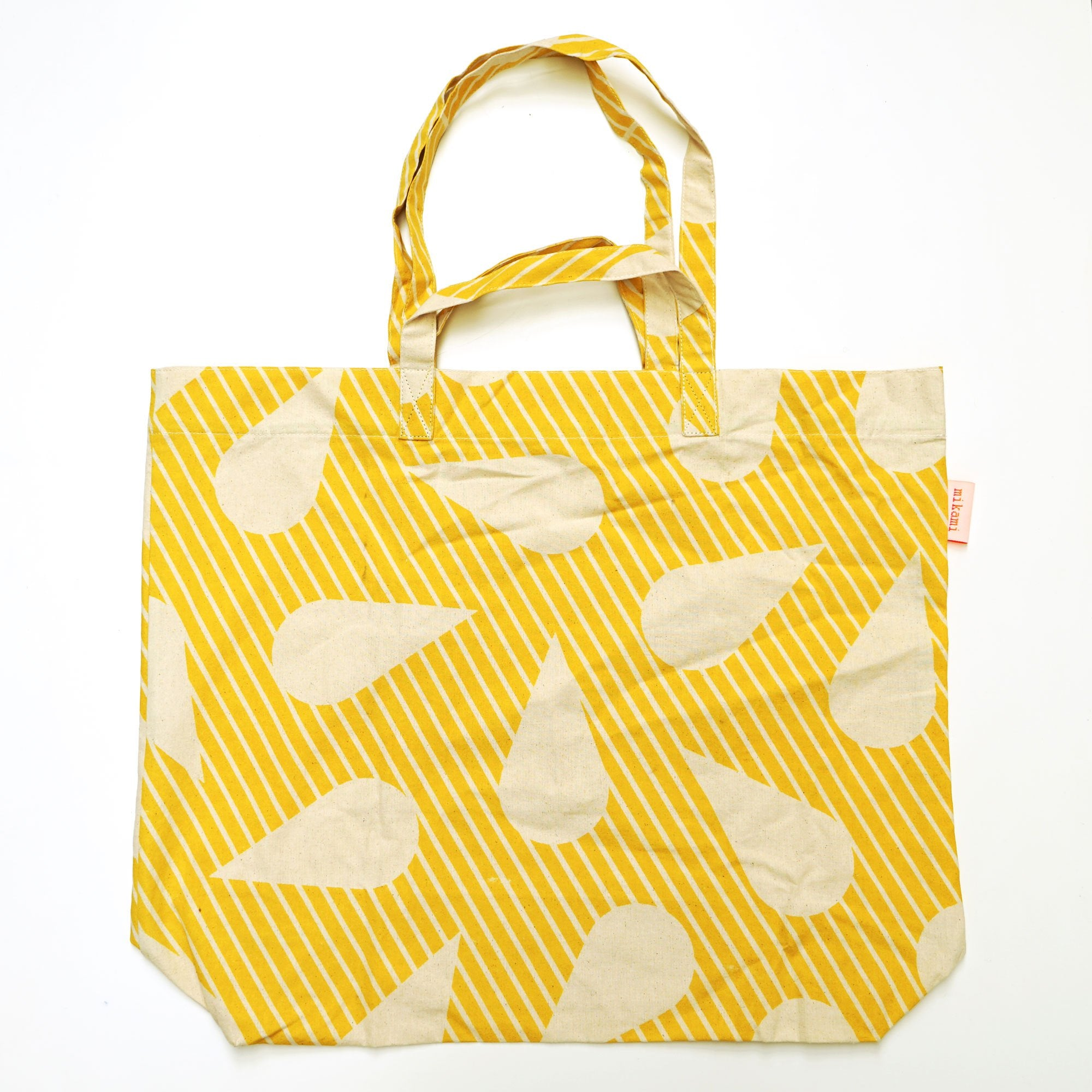 Yellow Water drop Tote Bag