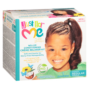 Just For Me No Lye Conditioning Creme Relaxer Kit Regular