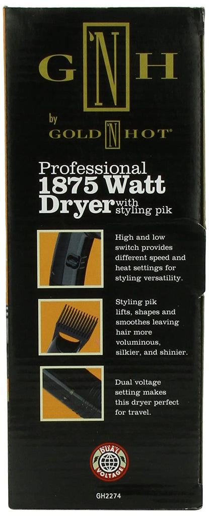 Gold N Hot Professional 1875 Watt Classic Pistol Dryer